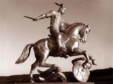 Памятник Святославу работы В.Клыкова